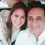 Anjali with her husband Rajiv Paul