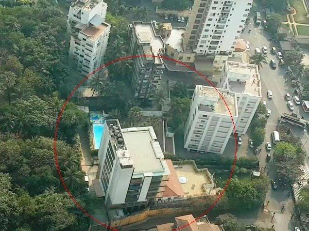 Shah Rukh Khan Mannat aerial view