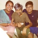 Sitaram Panchal with his family during his last days
