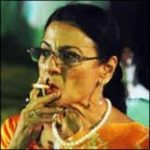 Tanuja Mukherjee smoking