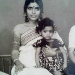 Udaya Bhanu (Childhood) with her mother Aruna