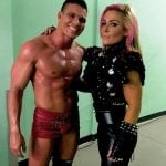 Wrestler Natalya with her husband Tyson Kidd