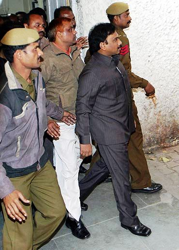 A. Raja in Police Custody