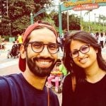 Abhilash Thapliyal with his wife