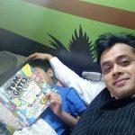 Abhisar Sharma With His Son