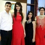 Aditi Arya with her family