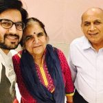 Ajay Chaudhary with parents