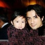 Ali Zafar with his son