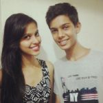 Alice Kaushik with brother