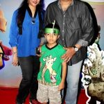 Amit Behl with his wife Vaibhavi Behl and son Nridev Behl