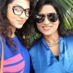 Ananya Sengupta with her mother