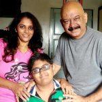 Anjali Ujawane with her husband Vilas Ujawane and son Kapil Ujawane