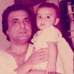 Ayaz Khan picture from his childhood with his father