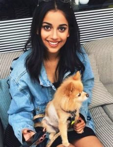 Banita Sandhu, a dog lover