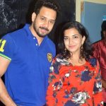Bharath with his wife Jeshly Joshua