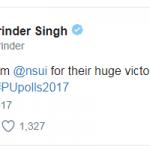 Captain Amarinder Singh congratulated NSUI