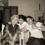 Deepti Naval with her mother and daughter