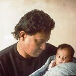 Dishani Chakraborty childhood photo with Mithun Chakraborty