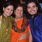 Geeta with her mother and brother