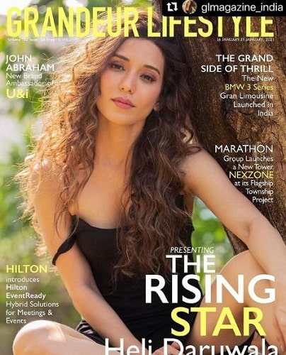Heli Daruwala featured on the cover of magazine
