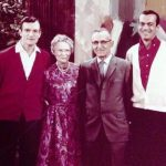 Hugh Hefner with his parents and brother
