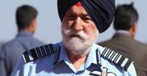 Indian Air Force Marshal Arjan Singh