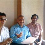 Irshad Kamil With Udit Narayan And Sandesh Shandilya