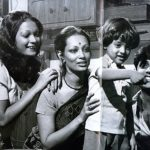 Jagjit Singh With His Wife Son and Step Daughter Monica