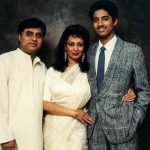 Jagjit Singh With His Wife and Son