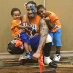 Jey Uso with his sons