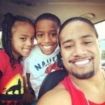 Jimmy Uso with his children