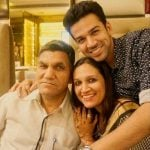 Karan Singhmar with father and sister