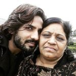 Krrip Kapur Suri with mother