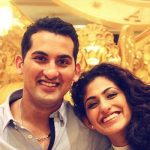 Kubra Sait with her brother