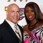 Kurt Angle with ex girlfriend Trenesha Biggers