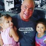 Kurt Angle with his daughters Giuliana and Sophia