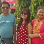 Manali Dey with parents