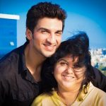 Manish Raisinghan with mother