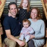 Mark Beaumont With His Wife And Daughters