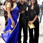 Mihir Mishra with his wife Manini Mishra and stepdaughter Dianoor