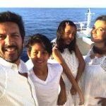 Mini Mathur with her husband & children
