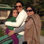 Mini Mathur with her mother