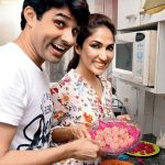 Mouli Ganguly with her husband