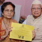 Ujjwala Sharma with her second husband N. D. Tiwari