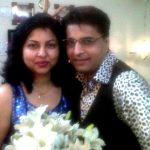 Naveen Saini with his wife