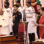 Nirmala Sitharaman taking oath as Defence Minister of India