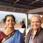Nirmala Sitharaman with her husband