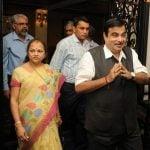 Nitin Gadkari With His Wife