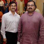 Nitin Gadkari sons Sarang (L) and Nikhil (R)