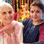 Pragati Mehra with her mother